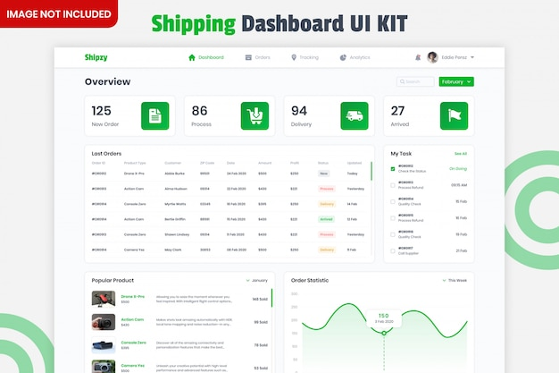 Kit ui dashboard consegna consegna