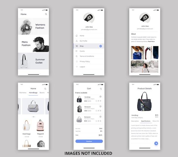Kit de ui móvil para compras en línea