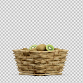 Kiwi 3d rendering