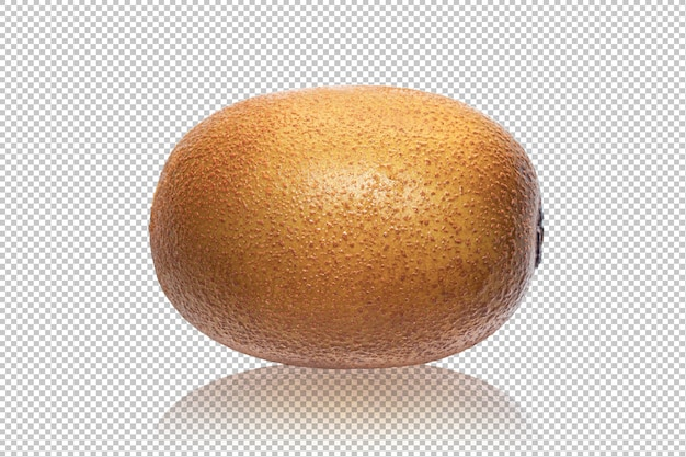 Kiwi dorado aislado en transparente