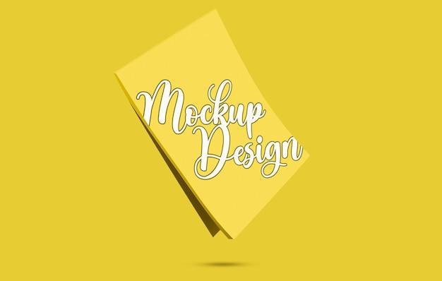 Kladblok mockup-ontwerp