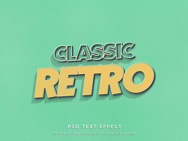 Klassiek retro 3d teksteffect