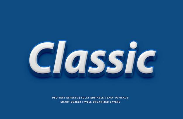 Klassieke blauwe kleur van het teksteffect van het jaar 2020