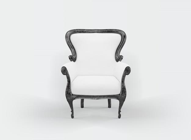 Klassieke fauteuil op wit
