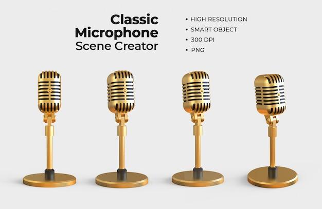 Klassieke microfoon scene creator