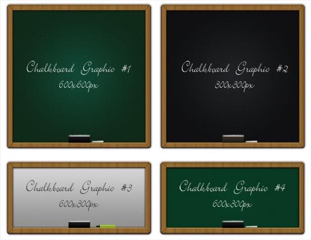 Klassieke schoolborden in verschillende kleuren en maten