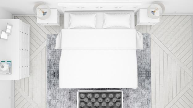 Klassieke slaapkamer of hotelkamer met tweepersoonsbed en elegant meubilair