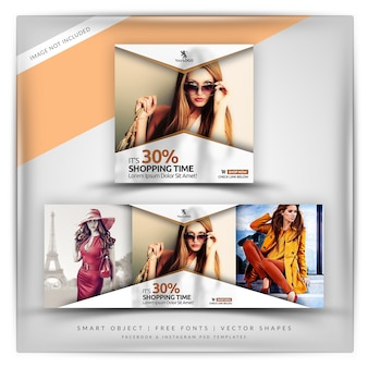 Klassieke stijl verkoop instagram & facebook banner