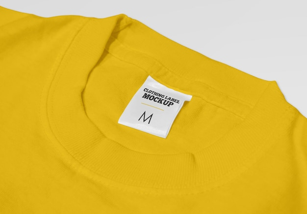 Kleding label mockup ontwerp geïsoleerd