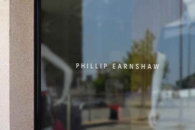 Kleding venster teken logo mockup