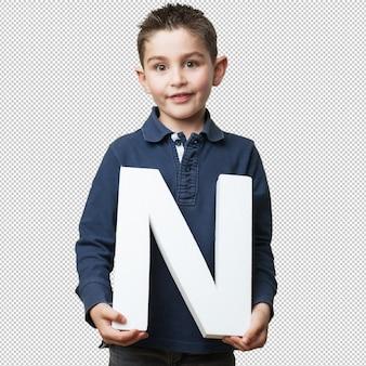 Klein kind houdt de n brief