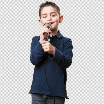 Klein kind zingt