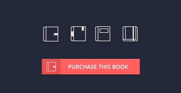 Kleine boekjes pictogrammen psd materiaal