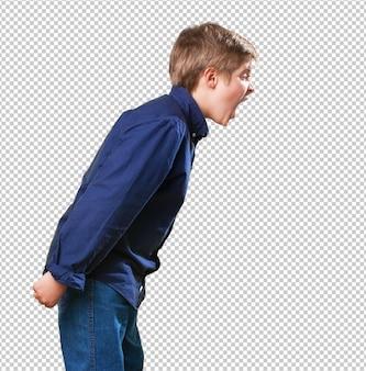 Kleine jongen schreeuwen Premium Psd