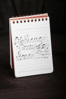 Kleine spiraal ring notebook mockup
