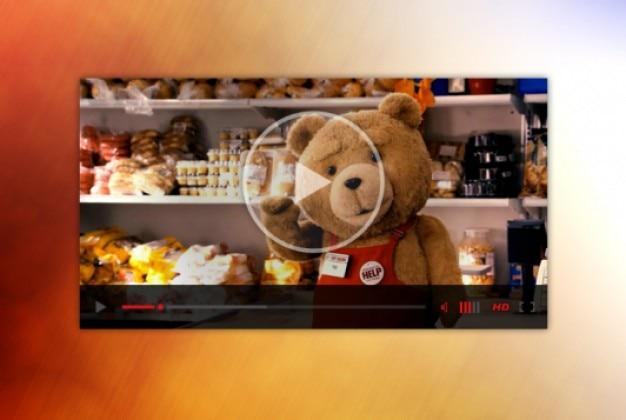 Kleine video player webdesign