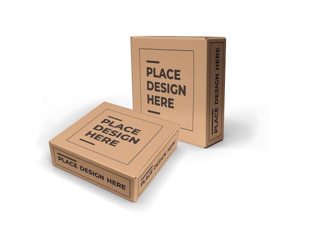 Kleine vierkante doos verpakking mockup