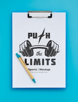 Klembord met motiverende sportboodschap