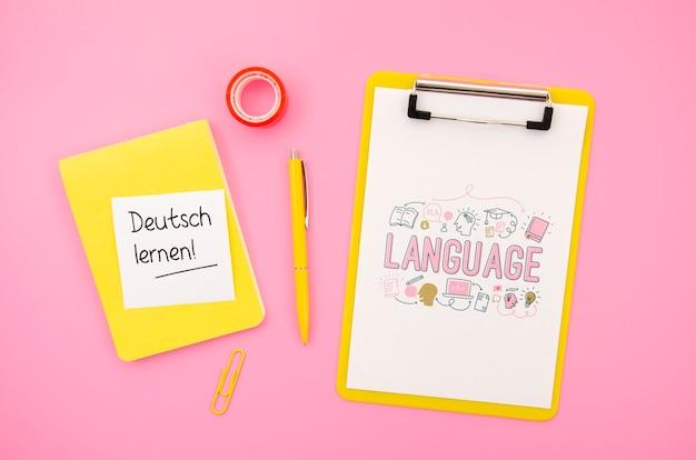 Klembord-tool om notities te maken tijdens het leren