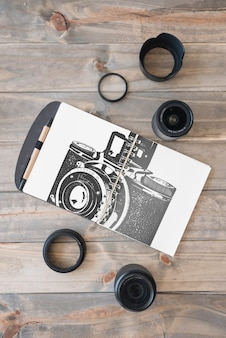 Klembordmodel met fotografieconcept