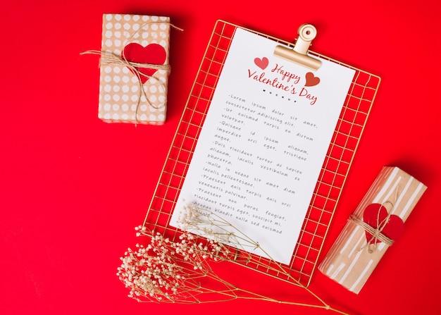 Klembordmodel voor valentijnskaart