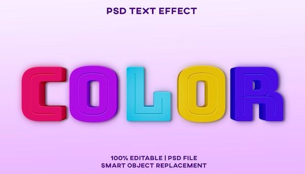 Kleur teksteffect stijlsjabloon