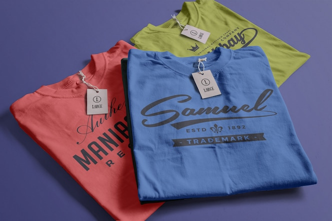 kleur tshirt mockup