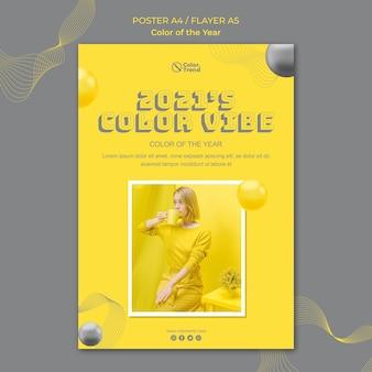 Kleur van het jaar poster sjabloon