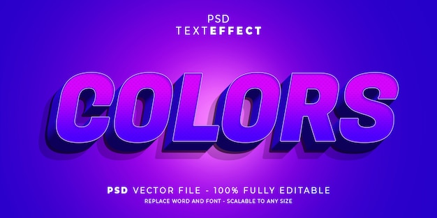 Kleuren teksteffect