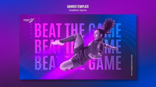 Kleurovergang sport banner sjabloon thema