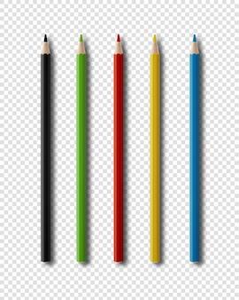 Kleurpotloden die op wit worden geïsoleerd