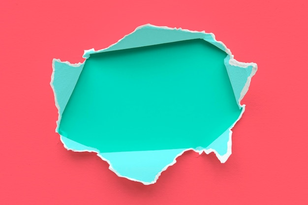 Kleurrijk gescheurd papier mockup-ontwerp