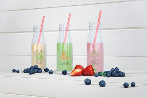 Kleurrijk gezond smoothiesmodel