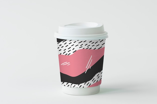 Kleurrijk meeneem koffiekopje mockup ontwerp