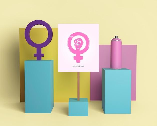 Kleurrijk meisje power arrangement