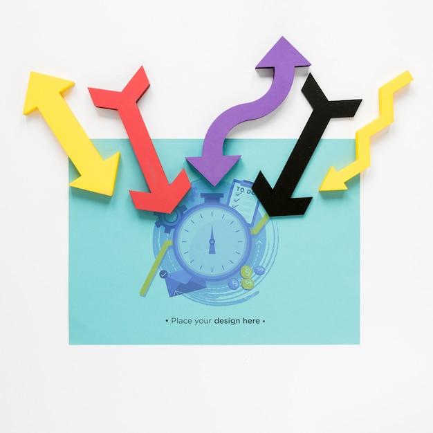 Kleurrijk pijlen en tijdbeheer