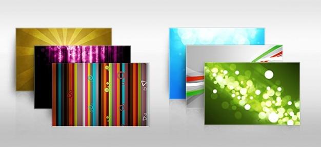 Kleurrijke achtergrond set abstracte psd