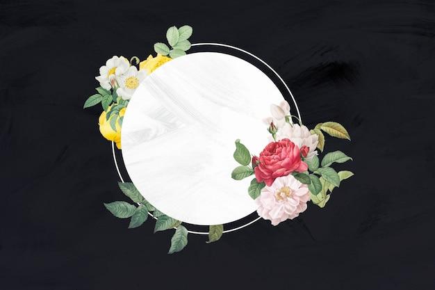 Kleurrijke bloem frame banner