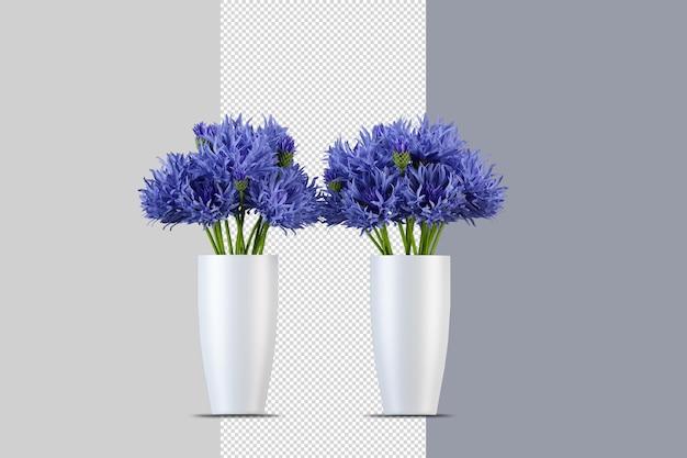 Kleurrijke bloemen in 3d-rendering geïsoleerd
