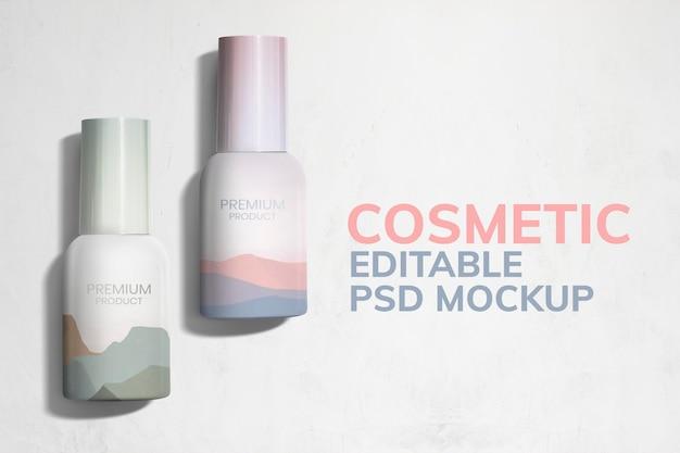 Kleurrijke cosmetische dozen mockup productverpakkingen advertentie