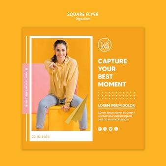 Kleurrijke digitalism flyer-sjabloon