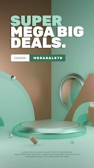Kleurrijke duotone sale discount podium product display