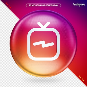 Kleurrijke ellipse 3d igtv instagram