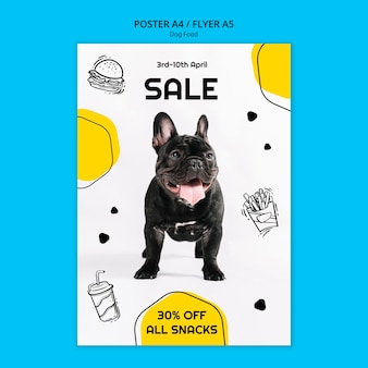 Kleurrijke hondenvoer vierkante flyer
