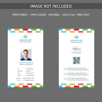 Kleurrijke identiteitskaart