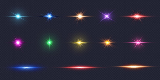 Kleurrijke lensflare-collectie