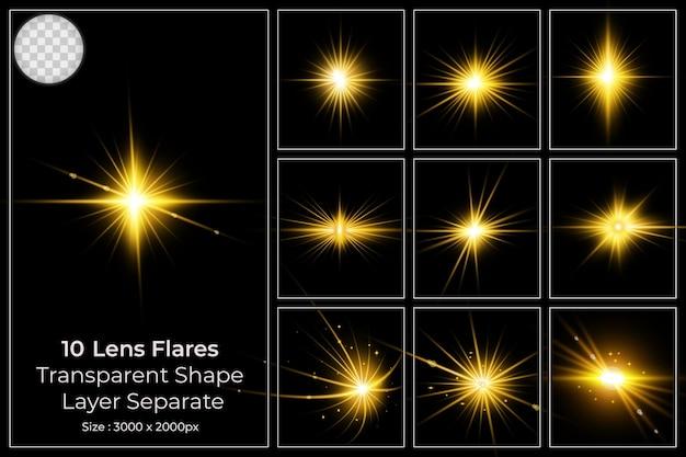 Kleurrijke lensflare set