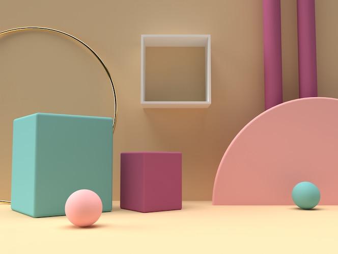 Kleurrijke pastel product staan op de achtergrond.
