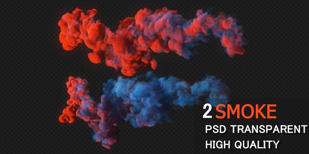 Kleurrijke rook premium psd