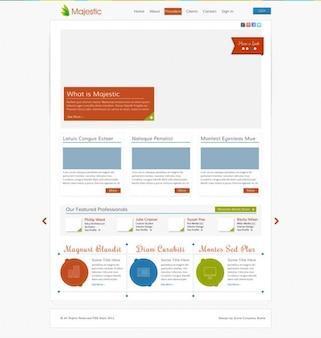 Kleurrijke ui-elementen webdesign